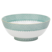 Green Lace Round Bowl | Gracious Style