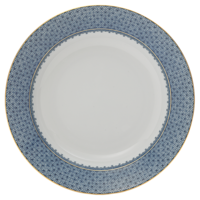 Blue Lace Rim Soup Plate  | Gracious Style