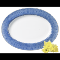 Blue Lace Oval Platter 15 in | Gracious Style
