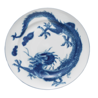 Blue Dragon Dessert Plate (W Center) | Gracious Style