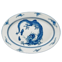 Blue Dragon Oval Platter | Gracious Style