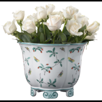 Famille Verte Five Lobed Cachepot 12 in | Gracious Style