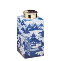 Blue Canton Tea Jar Small | Gracious Style