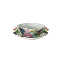Tobacco Leaf Cream Soup Cup & Saucer 7.5 in | Gracious Style
