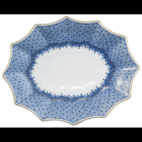 Sm Blue 12-Sided Lobed Tray | Gracious Style