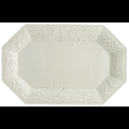 Pinecone Octagonal Platter | Gracious Style & Mottahedeh Pinecone Dinnerware | Gracious Style