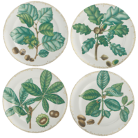 Nutleaf Dessert Plate Set Of Four | Gracious Style