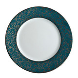Salamanque Platinum & Turquoise Salad Plate 7.75 in Round | Gracious Style