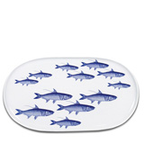 School of Fish Blue 16 in Oval Platter | Gracious Style