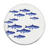 School of Fish Blue 12.25 in Platter | Gracious Style