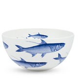School of Fish Blue 8.25 in Round Bowl | Gracious Style