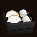 Soie Tressee Gold Teacup & Saucer Gift Box of 2 | Gracious Style