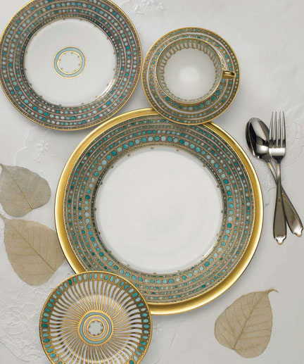 Syracuse Turquoise 5 Pc Setting | Gracious Style : formal dinnerware - pezcame.com