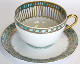 Syracuse Turquoise Breakfast Cup And Saucer | Gracious Style