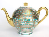 Syracuse Turquoise Coffee Pot | Gracious Style