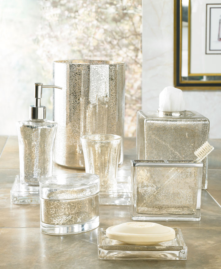 gold and silver bathroom accessories