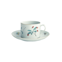 Famille Verte Can Cup & Saucer 2.5 in | Gracious Style