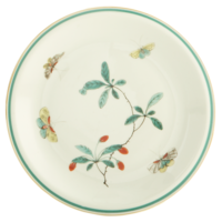 Famille Verte Coupe Dessert Plate 8 in | Gracious Style