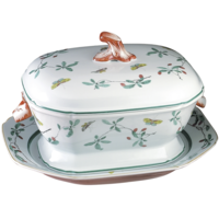 Famille Verte Soup Tureen W/Stand 4 qt | Gracious Style