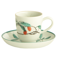 Famille Verte Demitasse Cup & Saucer  | Gracious Style
