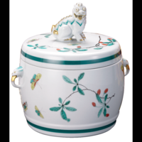 Famille Verte Fu Dog Jar 7.5 in | Gracious Style