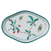 Famille Verte Oval Tray 5 x 7.5 in | Gracious Style