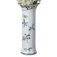 Famille Verte Trumpet Vase 11 in | Gracious Style
