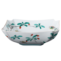 Famille Verte Low Square Bowl | Gracious Style
