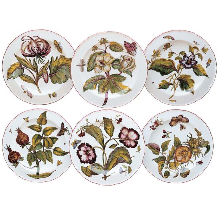 Chelsea Botanical Desserts Set of 6 | Gracious Style  sc 1 st  Gracious Style & Mottahedeh Chelsea Botanicals Dinnerware | Gracious Style