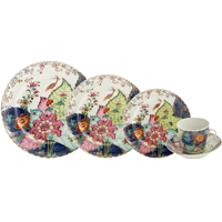 Tobacco Leaf 5Pc Setting | Gracious Style