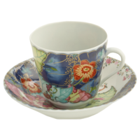 Tobacco Leaf Tea Cup & Saucer | Gracious Style