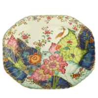 Tobacco Leaf Octagonal Platter 15 in | Gracious Style