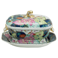 Tobacco Leaf Soup Tureen 4 qt | Gracious Style