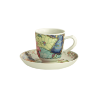 Tobacco Leaf Demitasse Cup & Saucer  | Gracious Style