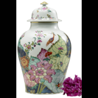 Tobacco Leaf Large Ginger Jar 16.5 in | Gracious Style