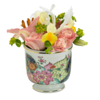 Tobacco Leaf Small Cache Pot | Gracious Style