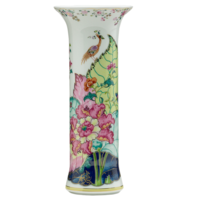 Tobacco Leaf Trumpet Vase 11 in | Gracious Style