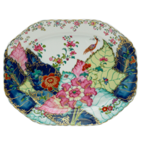 Tobacco Leaf Medium Octagonal Platter 13.5 in | Gracious Style