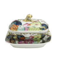 Tobacco Leaf Small Tureen W/Stand 12 oz | Gracious Style