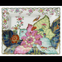 Tobacco Leaf Large Tray 6.5 x 7.5 in  | Gracious Style