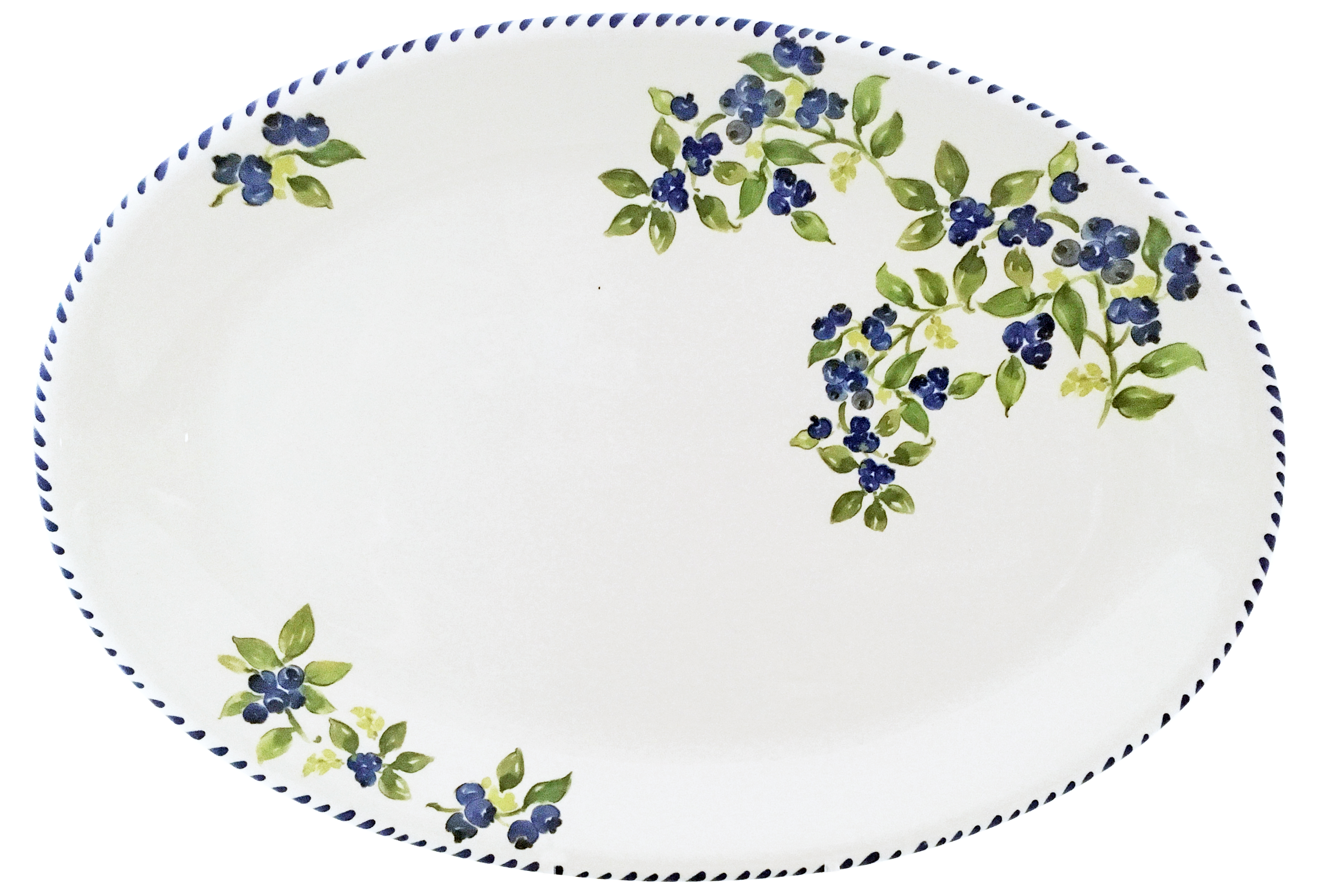 Blueberry Oval Platter 12  sc 1 st  Gracious Style & Abbiamo Tutto Blueberry Dinnerware | Gracious Style
