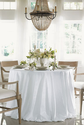Round Table With Tablecloth.Tablecloths Size Guide For Table Linens Gracious Style