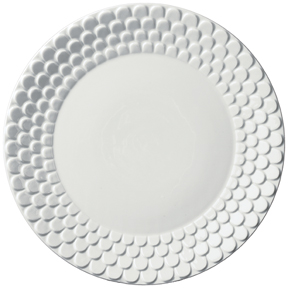 Aegean White Sculpted Charger 12
