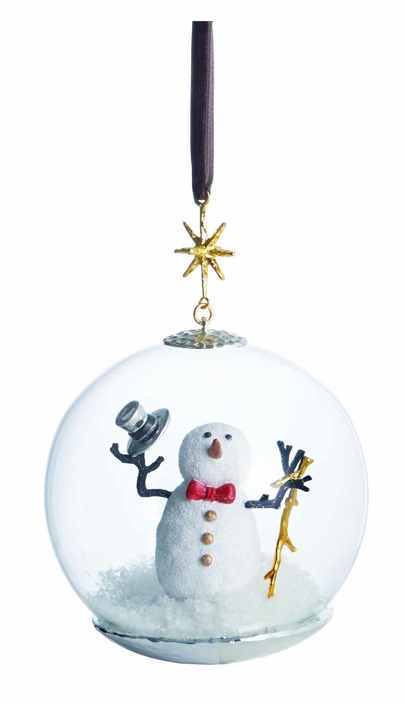 Michael Aram Snowman Snow Globe Ornament Gracious Style