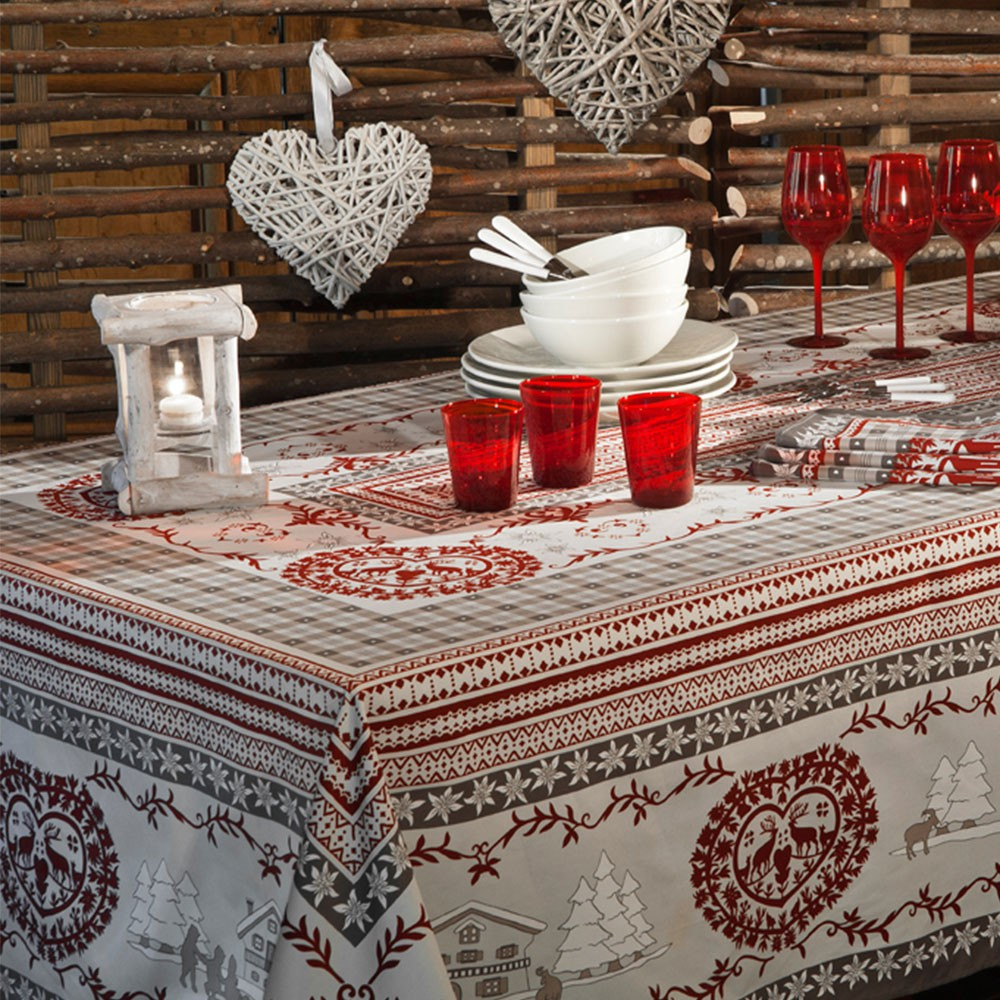 Beauville Cortina Gray Tablecloth 67 X 122 In