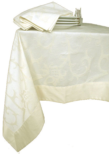 Blossom Cotton/Polyster Damask Tablecloth