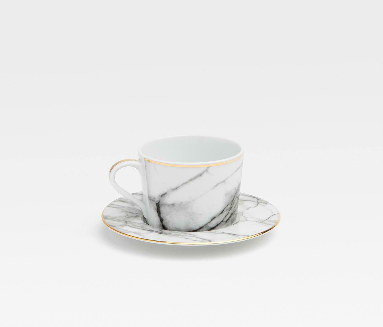 A Marble In A Cup Of Honey : Blue pheasant eleni white marble dinner plate gracious style