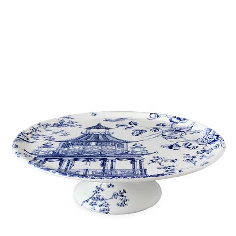 Chinoiserie Toile Blue 12.25 In Cake Pedestal  sc 1 st  Gracious Style & Caskata Chinoiserie Toile Blue Dinnerware | Gracious Style