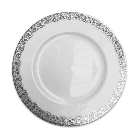 Ellington Shine Platinum 10.75 In Simple Dinner Plate   Gracious Style  sc 1 st  Gracious Style & Caskata Ellington Shine Platinum Dinnerware   Gracious Style
