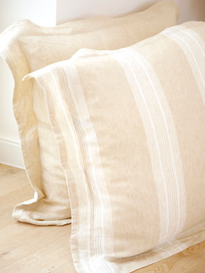 Catalina Straw Stripe Bed Linens